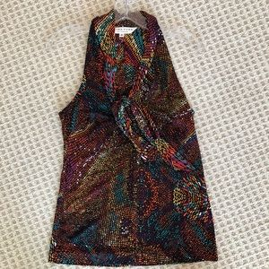 Trina Turk Multi-colored top with tie in front